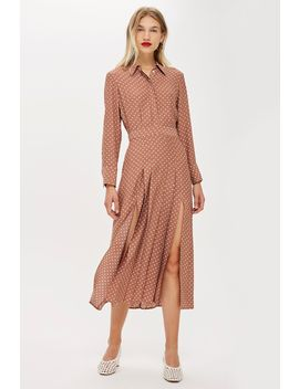 Rust Spot Print Shirt Dress by Topshop
