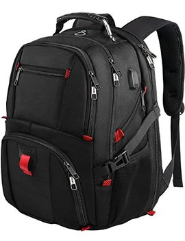 Travel Laptop Backpack, Extra Large College School Rucksack W/ Usb Charging Port For Mens And Women,Professional Large Capacity Tsa Friendly Water Resistant Big Business Computer Backpack Bag Fit 17.3 Inch Laptops Notebook,Black by Yorepek