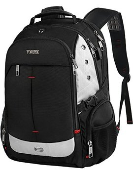 Large Laptop Backpack,Travel Computer Rucksack With Usb Charging Port For Men And Women,Large Capacity Tsa Friendly Water Resistant Big Business College School Rucksack Fit 17inch Notebooks,Black by Yorepek
