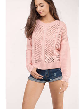Deep In Winter Blush Sweater by Tobi