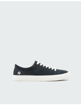 Blue Sneakers With Patch On Heel by Pull & Bear