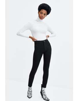 Buttoned High Waist Leggings  View All Trousers Woman by Zara