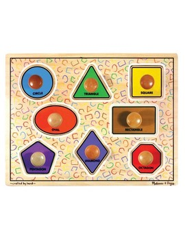 Melissa & Doug® Large Shapes Jumbo Knob Wooden Puzzle (8pc) by Shop All Melissa & Doug