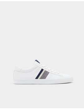 Sneakers With Blue And Grey Stripes by Pull & Bear