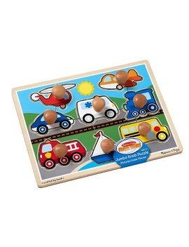 Melissa & Doug® Vehicles Jumbo Knob Wooden Puzzle (8pc) by Shop All Melissa & Doug