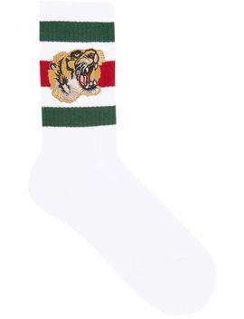 Gucci Stretch Cotton Socks With Tigerhome Men Gucci Clothing Socks by Gucci
