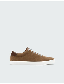 Perforated Brown Trainers by Pull & Bear
