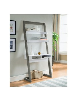 Ulrich Transitional Stand Up Desk Distressed Gray   Homes: Inside + Out by Shop All Homes: Inside + Out