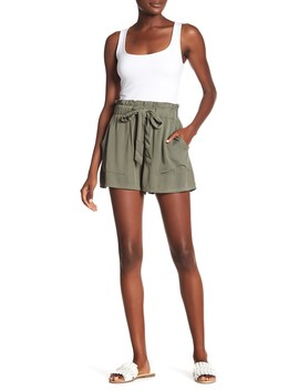Paperbag Waist Shorts by Know One Cares