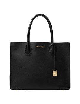 Michael Michael Kors Mercer Large Leather Tote Bag, Black by Michael Kors