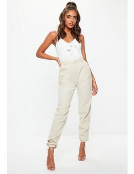 White Knot Front Bodysuit by Missguided