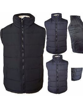 Mens Quilted Padded Lined Gilet Gillet Bodywarmer Sleeveless Coat Jacket M   3 Xl by Ebay Seller