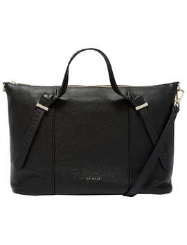 Ted Baker Oellie Knotted Handle Large Leather Tote Bag, Black by Ted Baker