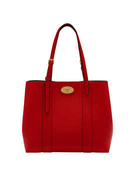 Mulberry Bayswater Small Leather Tote Bag, Ruby Red by Mulberry
