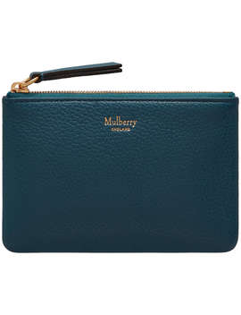 Mulberry Small Leather Coin Pouch, Deep Sea by Mulberry