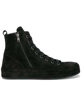 Ann Demeulemeester Black Suede Hi Top Sneakers Home Men Ann Demeulemeester Shoes Low Tops by Ann Demeulemeester