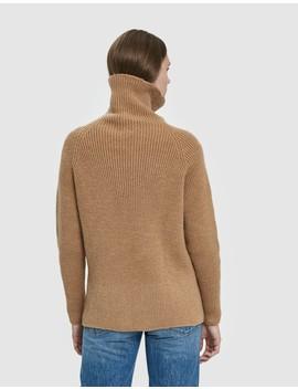 Ribbed Turtleneck Sweater by Baserange