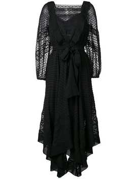 Embroidered Draped Dress by Zimmermann