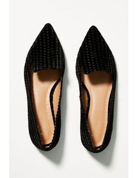Anthropologie Velvet Loafers by Anthropologie