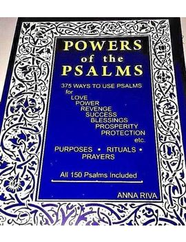 Anna Riva   Powers Of The Psalms   Anna Riva's Popular Book   Power Psalm by Ebay Seller