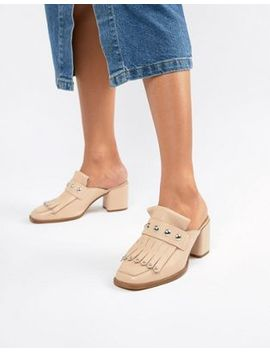 Asos Design Tamika Leather Premium Loafer Mules by Asos Design