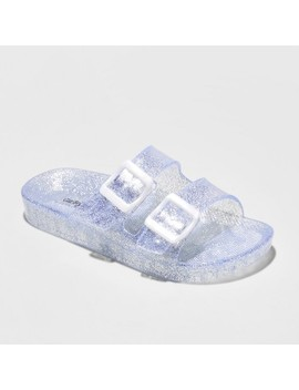 Girls' Susan Jelly Slide Sandals   Cat & Jack™ Silver by Shop All Cat & Jack™