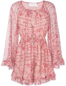Floral Shift Mini Dress by Zimmermann