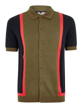 Khaki Knitted Polo by Topman