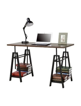 Adjustable Height Desk   Distressed Mocha   Homestar by Shop All Homestar