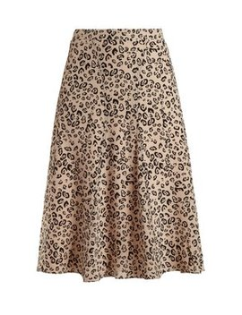 Caroline Leopard Print Skirt by Altuzarra