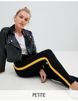 New Look Petite Tape Side Stripe Legging by Asos Us