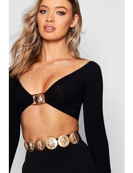 Coin Sovereign Detail Waist Belt by Boohoo