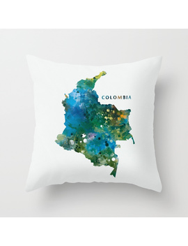 Colombia Throw Pillow by