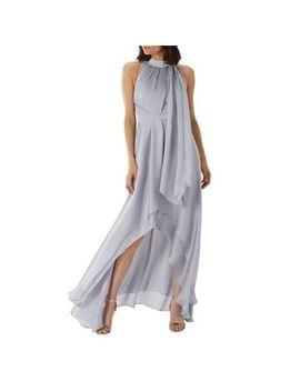 Coast   Silver 'felda' Tie Neck Maxi Dress by Coast