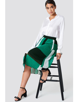 Block Colored Pleated Skirt by Na Kd Trend