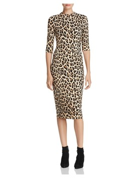 Delora Leopard Print Midi Dress  by Alice And Olivia