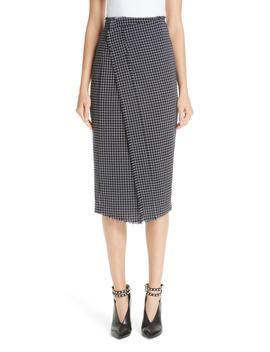 Wool Check Skirt by Jason Wu