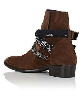 Bandana Strap Suede Jodhpur Boots by Amiri