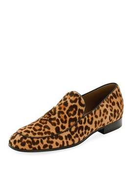 Marcello Men's Leopard Print Calf Hair Loafer, Leopard by Neiman Marcus