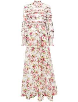 Flared Floral Maxi Gown by Zimmermann