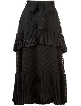 Pleated High Waist Skirt by Zimmermann
