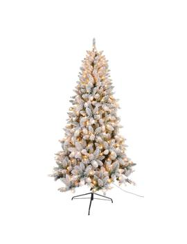 7.5 Ft. Flocked Tree With 450 Ul Lights 980 Tips by Home Depot