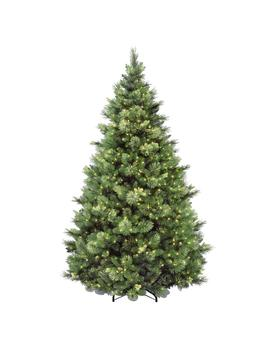 7 1/2 Ft. Carolina Pine Hinged Artificial Christmas Tree With 86 Flocked Cones And 750 Clear Lights by National Tree Company