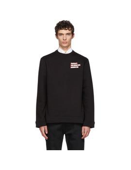 Black Christiane F. Couple Sweatshirt by Raf Simons
