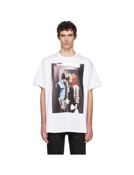 White Christiane F. Couple T Shirt by Raf Simons