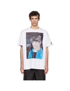 White Christiane F. Detlef T Shirt by Raf Simons