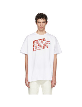 White Christiane F. 'kinder Bahnhof Zoo' T Shirt by Raf Simons