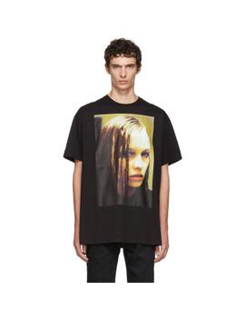 Black Christiane F. Wet Hair T Shirt by Raf Simons