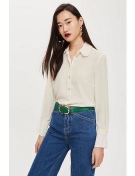 Ruffle Collar Shirt by Topshop
