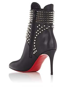 Spike Embellished Leather Ankle Boots by Christian Louboutin